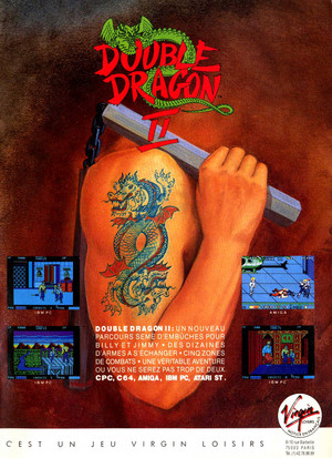 Double Dragon 2 - French Ad for the NES Game