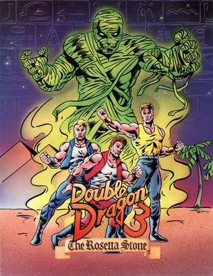 Double Dragon 3 - American Arcade Flyer