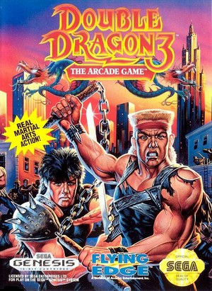 Double Dragon 3 - Sega Genesis Cover