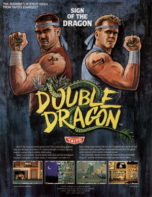 Double Dragon - American Arcade Flyer(Front)