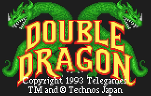 Double Dragon - Atari Lynx शीर्षक Screen
