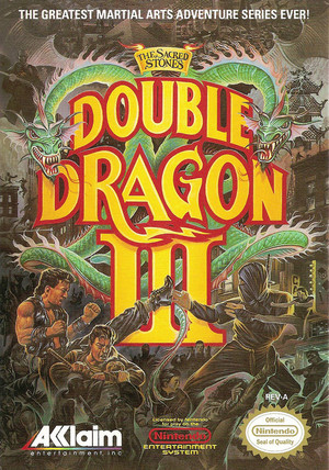 Double Dragon III - NES Cover