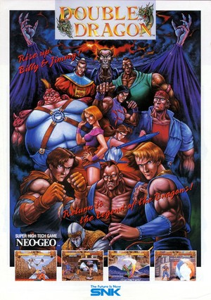 Double Dragon - Neo Geo Flyer(Front)