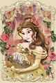Elegant Frame Series 3D Lenticular Card - Belle - disney-princess photo