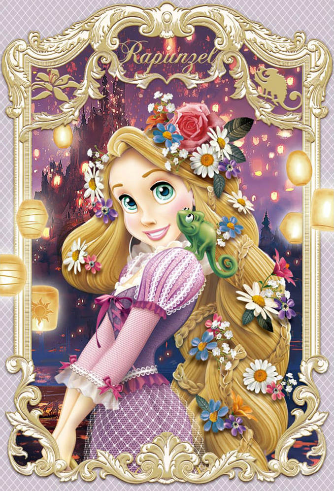 Disney Princess images Elegant Frame Series 3D Lenticular Card - Rapunzel HD wallpaper and background photos