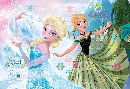 nagyelo wolpeyper entitled Elsa and Anna