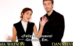 Emma Watson and Dan Stevens wish u Happy New jaar