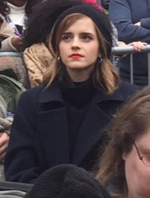 Emma Watson at the Women's March in Washington D.C.[January 21, 2017](Socail media pics)