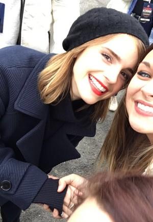Emma Watson at the Women's March in Washington D.C.[January 21, 2017](Socail media pics)