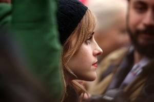 Emma Watson at the Women's March in Washington D.C. [January 21, 2017]