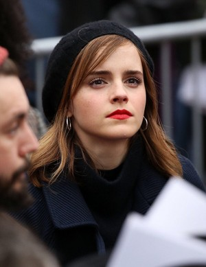 Emma Watson at the Women's March in Washington D.C. [January 21, 2017]