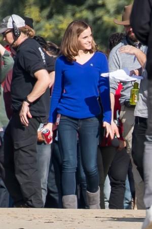 Emma Watson reshooting The cirkel [January 06, 2017]