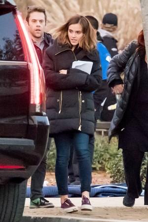 Emma Watson reshooting The Circle [January 06, 2017]