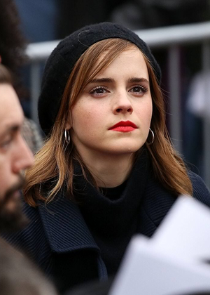 Emma at the 2017 Women's Rally in Washington D.C.