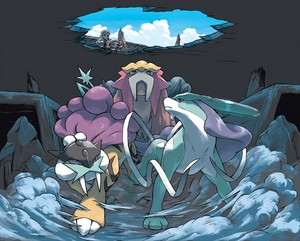 Entei, Raikou and Suicune
