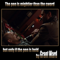 Grant Ward Fact - The pen is mightier than the sword - agents-of-shield fan art