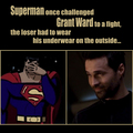 Grant Ward VS Superman - agents-of-shield fan art