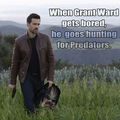 Grant Ward VS The Predator - agents-of-shield fan art