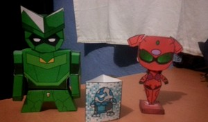Green Grande and Scarlet Rain Papercraft