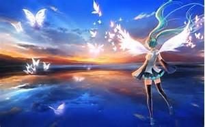 Hatsune Miku fondo de pantalla