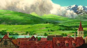 Howl's Moving castillo Scenery