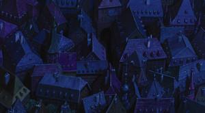 Howl's Moving kastil, castle Scenery