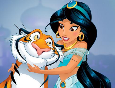 princesa jasmín fondo de pantalla titled jazmín and Rajah