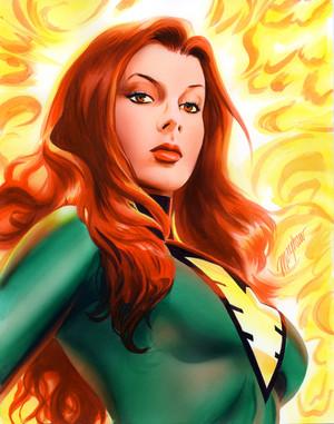 Jean Grey Phoenix Commission por mikemayhew
