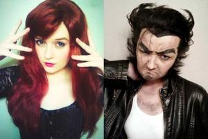 Jean and Logan X men Make up Test por xHee Heex