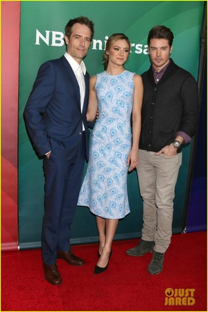 Josh Henderson, Michael Vartan and Christine Evangelista at the 2017 TCA Winter Tour