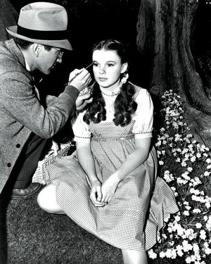 Judy Garland on the Set of Wizard of Oz