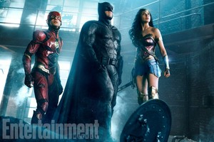 Justice League (2017) - The Flash, Бэтмен and Wonder Woman