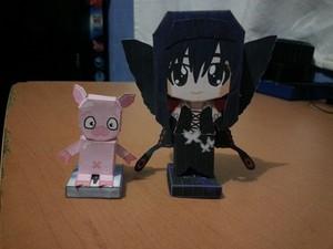 Kuroyukihime and Haru Papercraft
