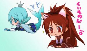 Kyoku and Sayaka