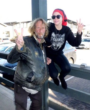 Lady Gaga with an old friend in LA