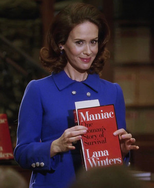 Lana with the book