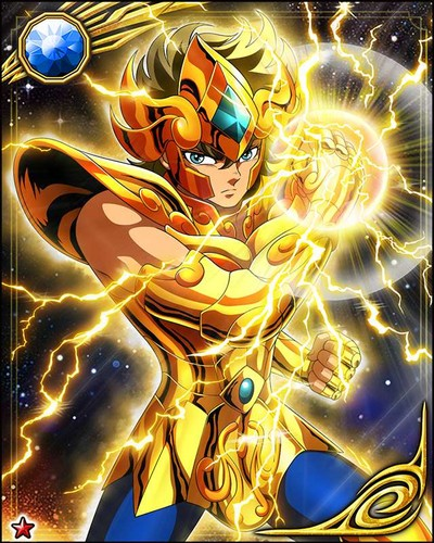 Saint Seiya (Knights of the Zodiac) kertas dinding titled Leo Aiolia