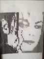 MJ face needlework - michael-jackson photo