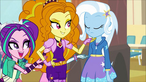 MLP regenbogen Rocks Adagio Flirting With Trixie55