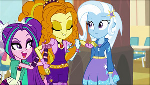 MLP regenbogen Rocks Adagio Flirting With Trixie61