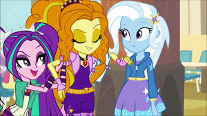 MLP regenbogen Rocks Adagio Flirting With Trixie68