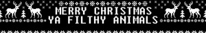 Merry Christmas, Ya Filthy animali - fanpop profilo Banner (Medium)