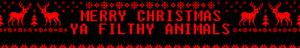 Merry Christmas, Ya Filthy जानवर - फैन्पॉप प्रोफ़ाइल Banner (Medium)