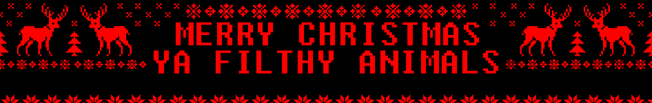 Merry Christmas, Ya Filthy wanyama - fanpop profaili Banner (Medium)
