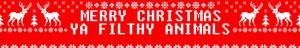 Merry Christmas, Ya Filthy Animals - Fanpop Profile Banner