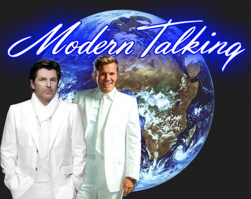 Modern Talking Hintergrund titled Meteosat 2 Earth image