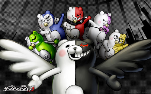 Dangan Ronpa 바탕화면 entitled Monokuma And Cubs 바탕화면
