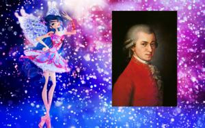 Musa e Wolfgang Amadeus Mozart