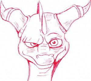 My spyro drawing