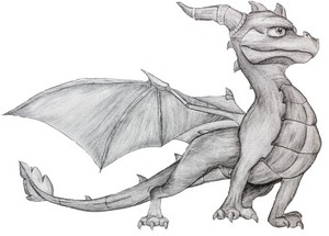 My spyro drawing